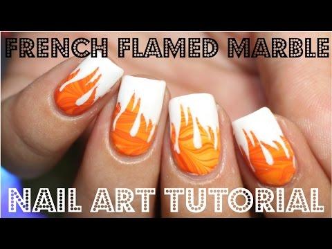 nail art con fiamme