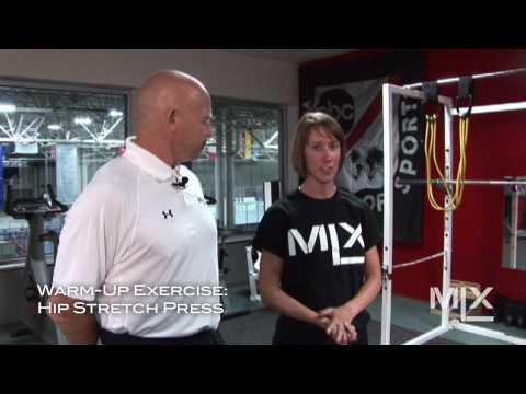 MLX Ice Hockey Skating Lesson: Hip Stretch Press Warm-Up