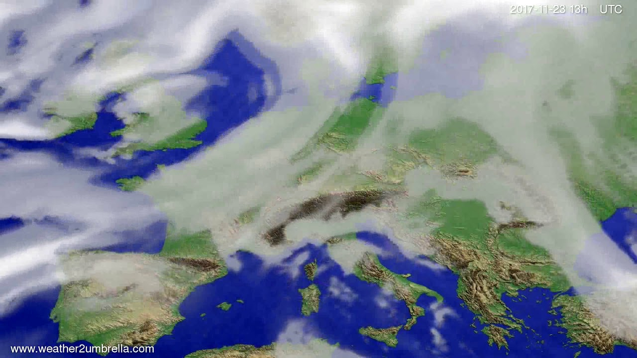 Cloud forecast Europe 2017-11-20