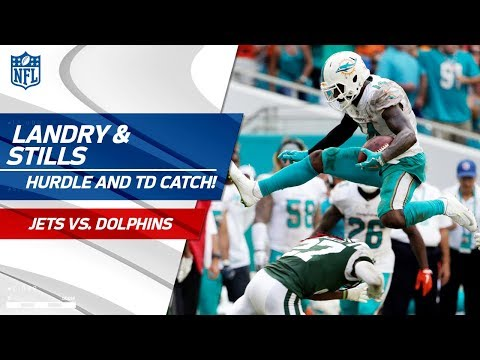Video: Jarvis Landry's Ridiculous Hurdle After the Grab & Kenny Stills' TD! | Jets vs. Dolphins | NFL Wk 7