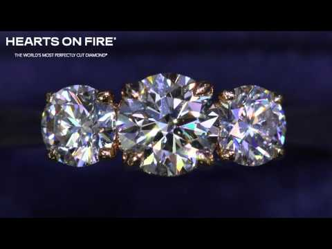 Signature 3 Stone Diamond Engagement Ring - Hearts On Fire Melbourne