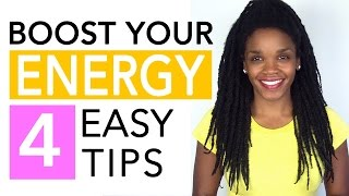 Video Topic: Feeling Tired? 4 Easy Tips to Boost Energy Naturally (http://bit.ly/2lblZHj)Feeling tired all the time? Today I'll be sharing 4 easy tips to significantly boost your energy levels naturally so you can more productive during the day and feel more awesome! For those of you who like a quick cheat sheet, the 4 tips are: 1) Drink more water, 2) Get more sunlight to boost your body levels of active Vitamin D, 3) Get more B vitamins in your diet (see more about B vitamins below), and 4) Exercise.  Also, once you're done watching, click the links below to learn more about FitBody Energy, an advanced energy supplement that contains all 8 B vitamins, as well as other energy, mood and metabolism boosting goodies like ginseng and maca root! Plus, FitBody Energy is even more awesome because it contains no sugar, no calories, and it has no crash side effect – so definitely check it out now if you're look for a quick and healthy energy boost!Enjoy!xoxo – Doc* Get FitBody Energy at Dr. Phoenyx's FitBeauty Shop http://bit.ly/2oaaoG6* Get FitBody Energy on Amazonhttp://amzn.to/2nWJmlX* Learn more about B vitamins! (8 B vitamins, food sources, and benefits) http://bit.ly/2mZiYao* Visit Dr. Phoenyx's FitBeauty Shop – Home of Awesome Nutrition for a Fit & Beautiful Body!https://www.drphoenyx.com/shop* Dr. Phoenyx's FitBeauty Shop on Amazonhttp://amzn.to/2ebQdriPlease Like and Subscribe!** Get my FREE eBook  http://bit.ly/2j5zSW2Follow Dr. Phoenyx on:Facebook    https://www.facebook.com/DrPhoenyx/Instagram    https://www.instagram.com/drphoenyx/** Dr. Phoenyx Austin, MD is the founder of the FitBeauty Shop and the creator of Dr. Phoenyx Nutrition. A fitness entrepreneur, best-selling author, and certified Sports Nutrition Specialist, Dr. Phoenyx provides nutrition products and practical tips to help women achieve a fit and beautiful body from the inside out!***DISCLAIMER:Dr. Phoenyx Austin and Dr. Phoenyx LLC strongly recommend that you consult with your physician before beg