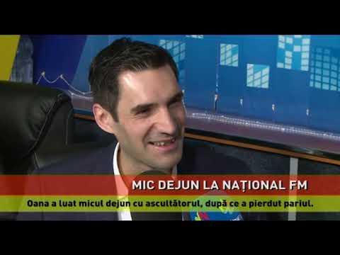 """Mic dejun la Național FM, după un pariu cu rezultat """"romantic"""""""
