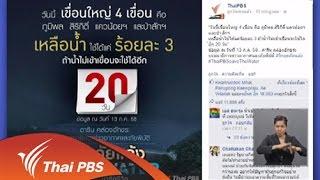 เปิดบ้าน Thai PBS - ความคิดเห็นต่อการนำเสนอข้อมูลสถานการณ์ภัยแล้ง