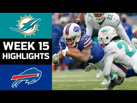 Dolphins vs. Bills | NFL Week 15 Game Highlights (видео)