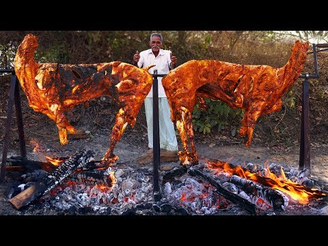Whole Lamb Roast Recipe | Grilled Full Goats Recipe | Big Tandoori Bakra | Grandpa Kitchen