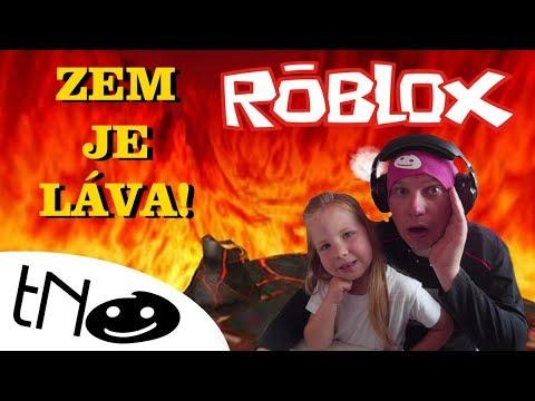 ZEM JE LÁVA CHALLENGE! -  The Floor Is Lava  Roblox  Tatínek a Barunka CZ/SK
