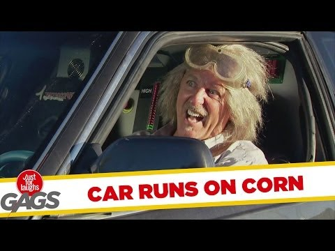 [Just4Laughs Gags Vol 1] Tập 11: Car Runs On Corn Prank