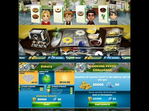 Cooking Fever New Challenge In Bakery Restaurant Part 1 | Level 1, 2, 3