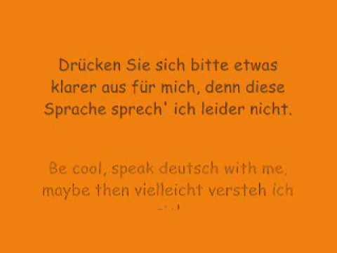 Die Prinzen - Be cool speak Deutsch