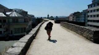 Lugo Spain  city pictures gallery : Round the Roman wall in Lugo, Spain - Stop Motion