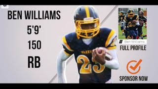 Ben Williams (RB) Class 2019 - HESN 2K15 Football Highlights