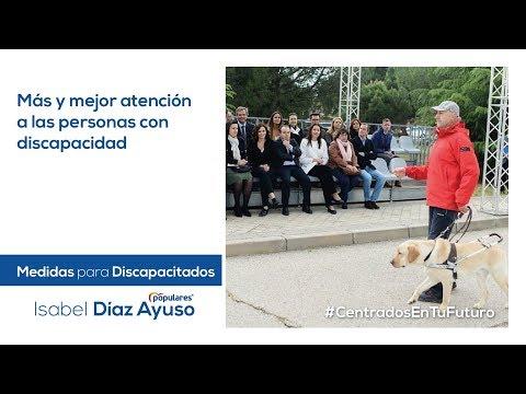 Isabel Díaz Ayuso - Medidas en discapacidad