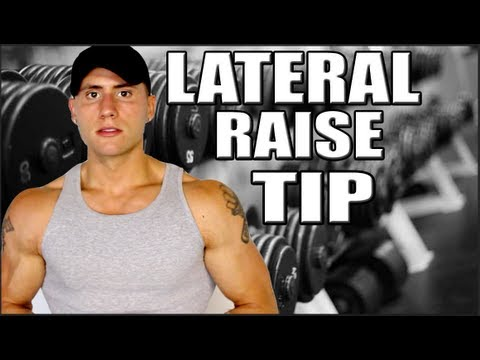 lateral raises - In this video I talk about mistakes many people make when performing the dumbbell lateral raise. Often times people grab weight that is way to heavy and sacr...