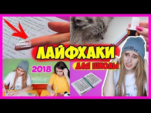 Полезные ЛАЙФХАКИ ДЛЯ ШКОЛЫ / Школьные лайфхаки Снова в школу 2018 онлайн видео