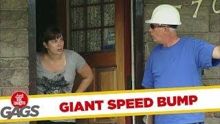 Door-to-door Prank - Giant Speed Bump