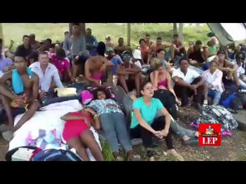 """Cubanos """"varados"""" en Darién están en huelga de hambre"""