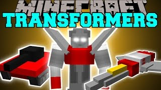 Minecraft: TRANSFORMERS (MORPH INTO ROBOTS, PLANES, TANKS&CARS!) Mod Showcase