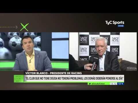 Víctor Blanco: ''Me gustaría reforzar a Racing de la mejor manera