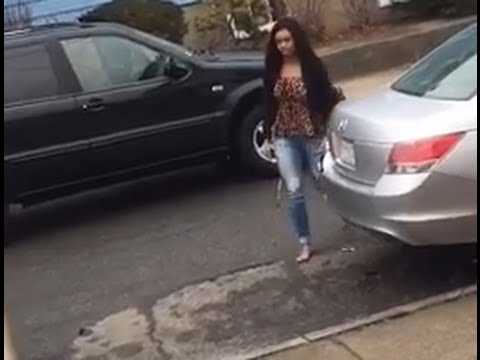Ex-girlfriend going crazy and tried to hit dude with her car