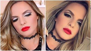 MATTE CUT CREASE Fall Makeup Tutorial!   Casey Holmes
