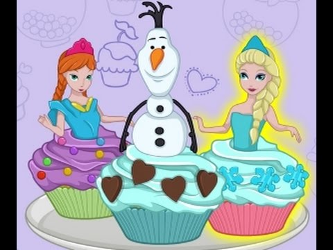 Frozen Video Game - Cutezee Cooking Academy: Elsa Cupcakes - Cutezee.com