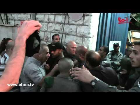 شاهد كيف تضرب اسرائيل النائب العربي محمد بركة (فيديو)