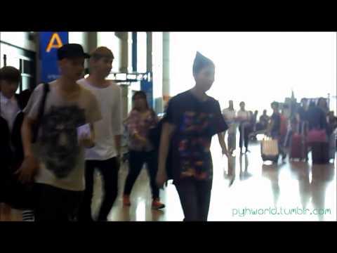 130719 EXO @ INCHEON AIRPORT (видео)