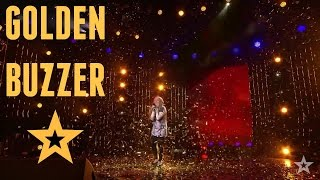 Video GOLDEN BUZZER - 12 Year Old Girl Shocked The Audience MP3, 3GP, MP4, WEBM, AVI, FLV September 2019