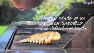 Kreeftenstaart van de barbecue