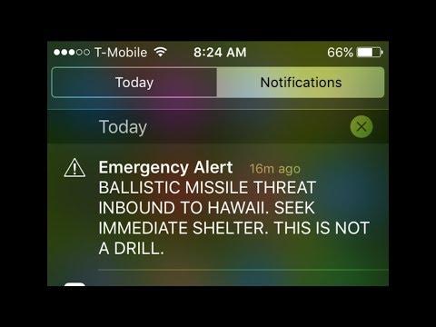 EMERGENCY ALERT: Hawaii Ballistic Missile Threat NOT A DRILL! Janunary 13, 2018