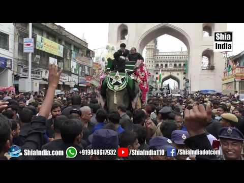 10th Muharram | Bibi Ka Alam Juloos Procession | Hyderabad, India | 1440-2018