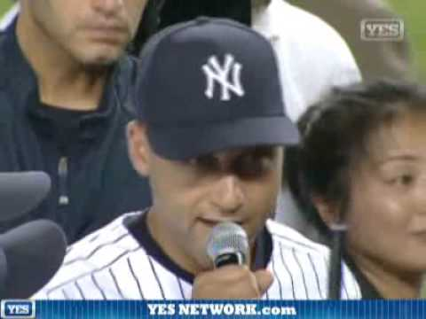 Derek Jeter's farewell to Yankee Stadium speech