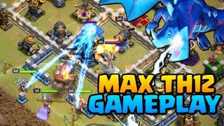 MAX TH12 GAMEPLAY - Clash Of Clans Town Hall 12 Attacks  New CoC Troop Electro Dragon