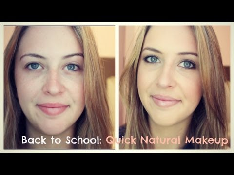 Back to School: Quick, Natural Makeup Tutorial (Talk Through)