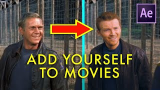 How to ADD YOURSELF into movies | After Effects actor replacement tutorial