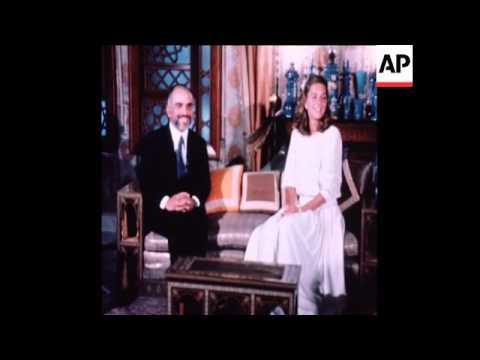 KING HUSSEIN OF JORDAN MARRIES LISA HALABY (QUEEN NOOR) IN AMMAN