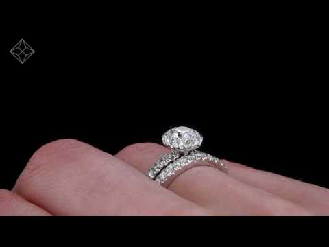 UT50 - Platinum Set Alessandra Diamond Wedding & Engagement Ring Set