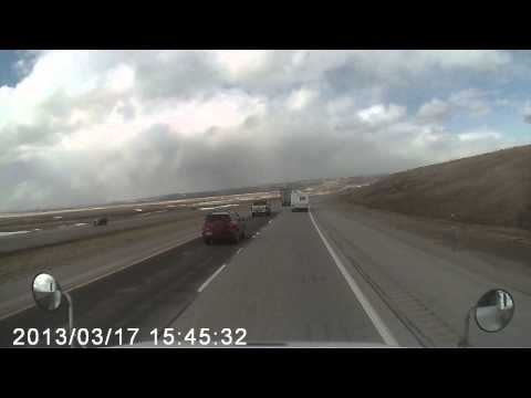 VIDEO: Wind flips over a semi-truck on I-80 in Wyoming