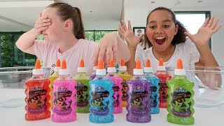 Video 3 COLORS OF GLUE SLIME CHALLENGE!! MP3, 3GP, MP4, WEBM, AVI, FLV September 2018