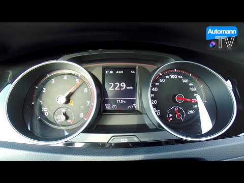 2017 Golf GTI Clubsport (290hp) - 0-200 km/h acceleration (60FPS)