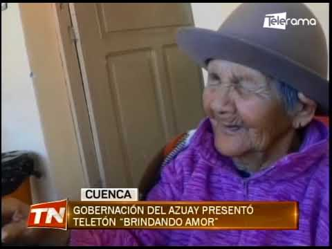 Gobernación del Azuay presentó Teletón Brindando Amor
