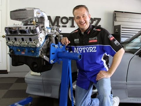 engine - Chris Duke from Motorz TV http://www.motorz.tv shows you how to upgrade a stock 1987 Ford Mustang GT engine to a new 331 crate motor from BluePrint Engines. ...