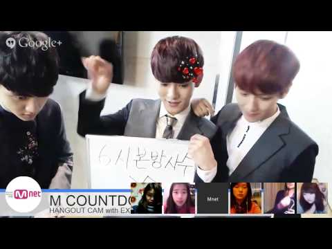 m. - M COUNTDOWN HANGOUT CAM WITH EXO.