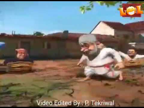 Cartoon Dance In Modi Song