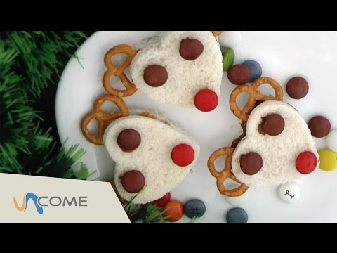 panini dolci farciti a forma di renna - la videoricetta