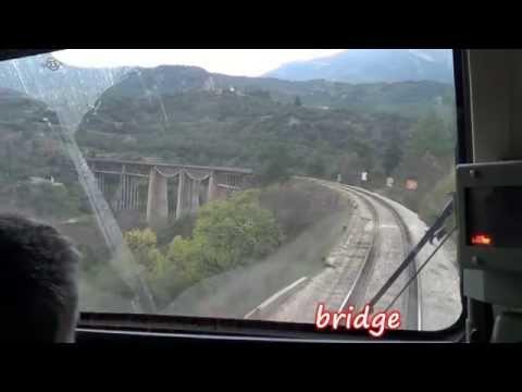 Greek railways, Cab ride on the mountainous line from Lianokladi to Amfikleia (видео)