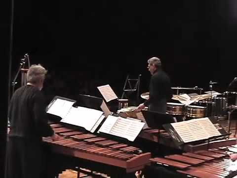 percussion education - NEXUS (Bob Becker, Bill Cahn, Robin Engelman, Russell Hartenberger, Garry Kvistad) performing in excerpts from a NEXUS Education concert in Kalamazoo, Michig...