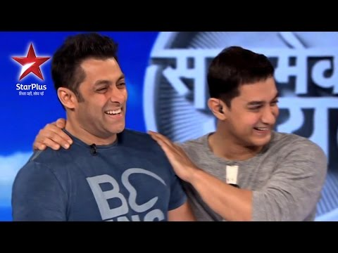 SALMAN - Salman Khan joins Aamir Khan on Satyamev Jayate this week...Tune in to find out what he speaks about and why someone was trying so hard to thank him! Watch S...