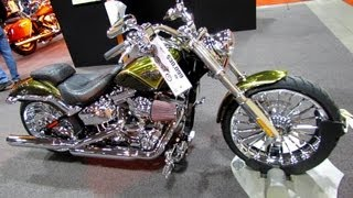9. 2013 Harley-Davidson Softail CVO Breakout - Walkaround - Debut at 2012 Toronto Motorcycle Show